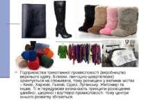 Підприємства трикотажної промисловості (виробництво верхнього одягу, білизни,...