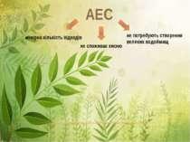 АЕС мізерна кількість відходів не споживає кисню не потребують створення вели...