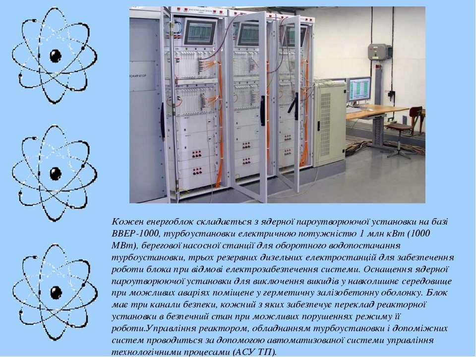 Кожен енергоблок складається з ядерної пароутворюючої установки на базі ВВЕР-...