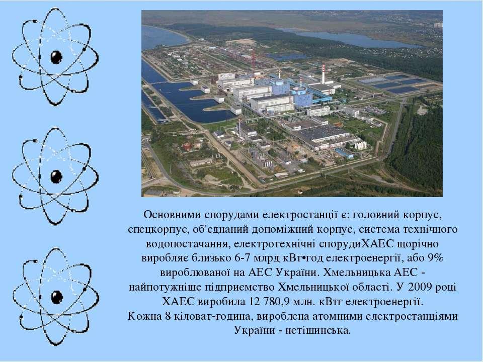 Основними спорудами електростанції є: головний корпус, спецкорпус, об'єднаний...