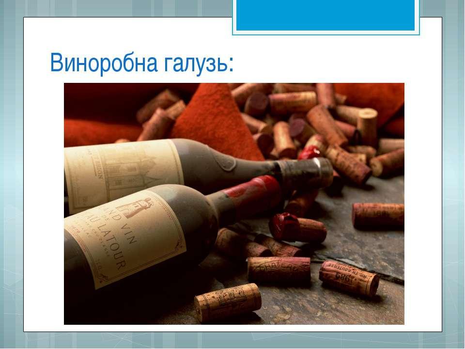 Виноробна галузь: