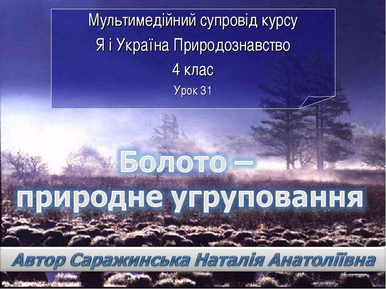 Мультимедійний супровід курсу Я і Україна Природознавство 4 клас Урок 31