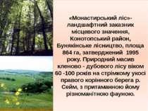 «Монастирський ліс»- ландшафтний заказник місцевого значення, Конотопський ра...