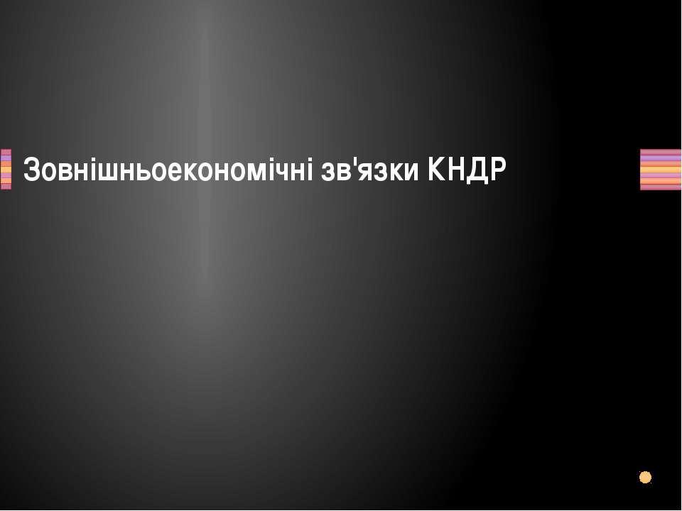 Зовнішньоекономічні зв'язки КНДР Заголовок раздела