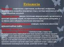 Етіологія Найчастіше це - стафілококи, стрептококи, колібактерії, ентерококи,...