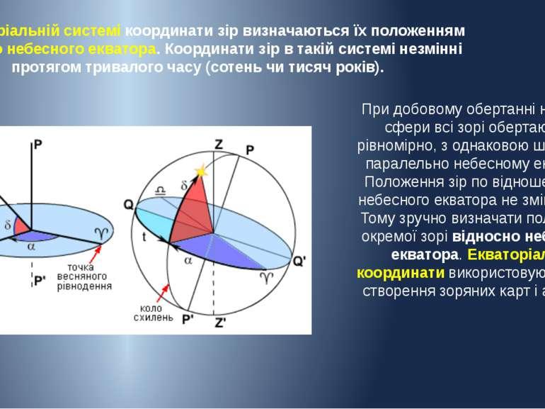 При добовому обертанні небесної сфери всі зорі обертаються рівномірно, з одна...