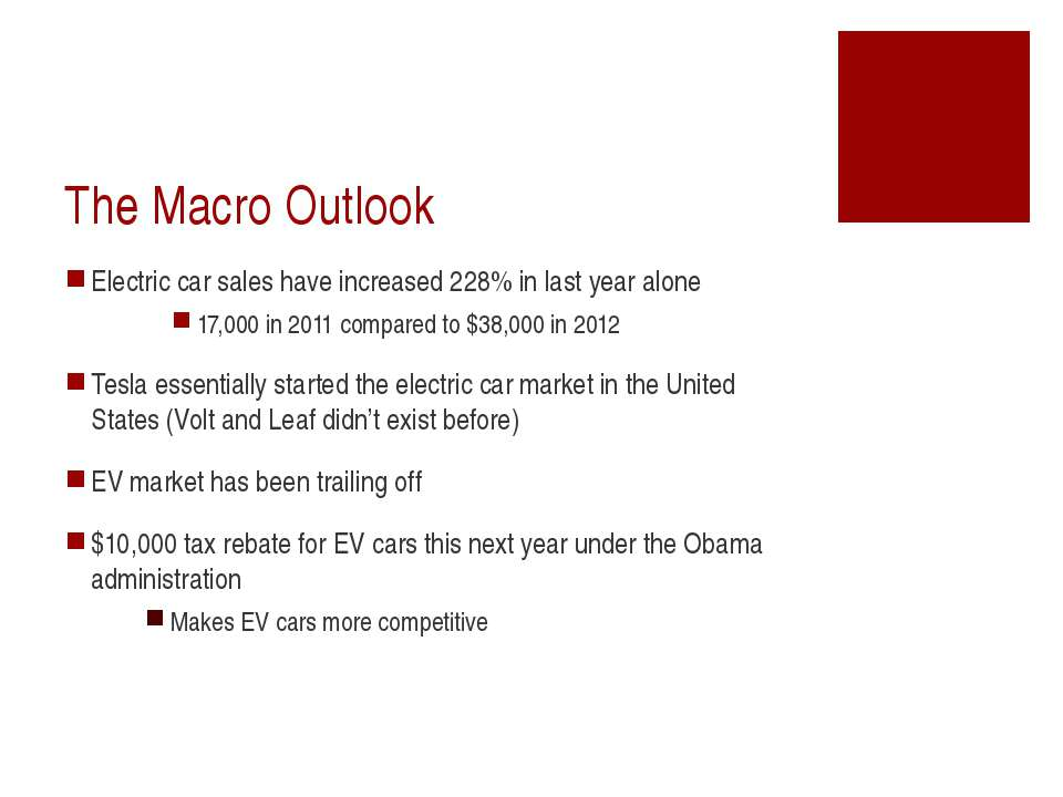 The Macro Outlook Electric car sales have increased 228% in last year alone 1...