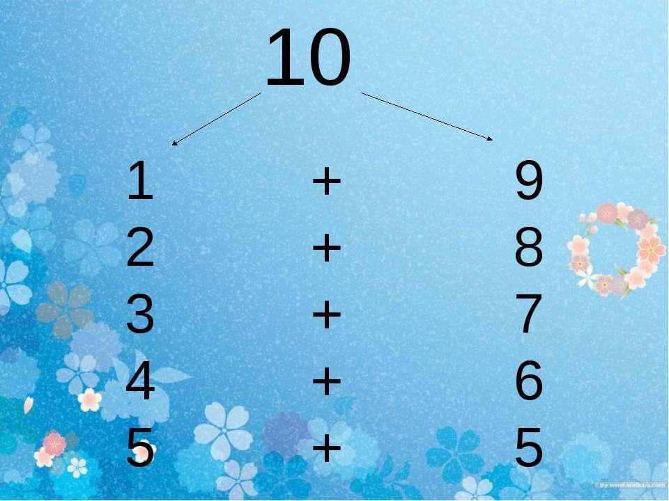 10 + 9 + 8 + 7 + 6 + 5