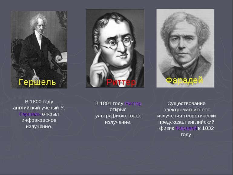 Гершель В 1800 году английский учёный У. Гершель открыл инфракрасное излучени...