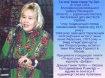 Га нна Тана сівна Чу бач (6 січня1941, Мурованокуриловецького районуВінн...