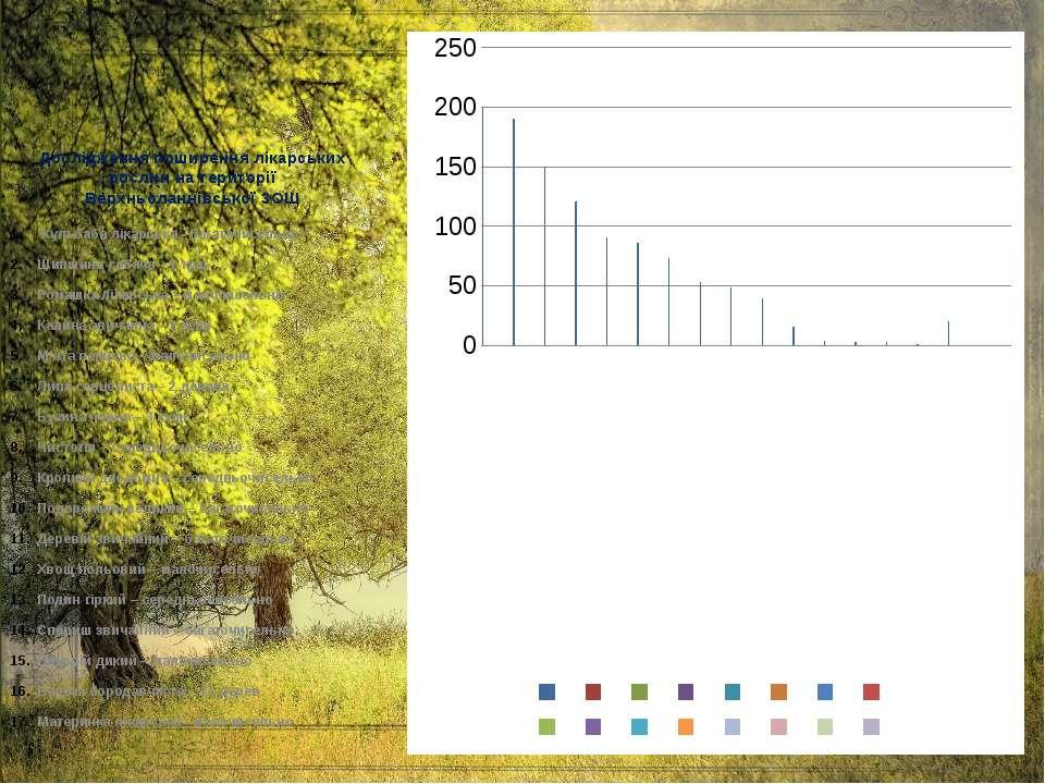 Дослідження поширення лікарських рослин на території Верхньоланнівської ЗОШ К...