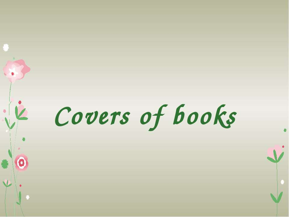 Covers of books