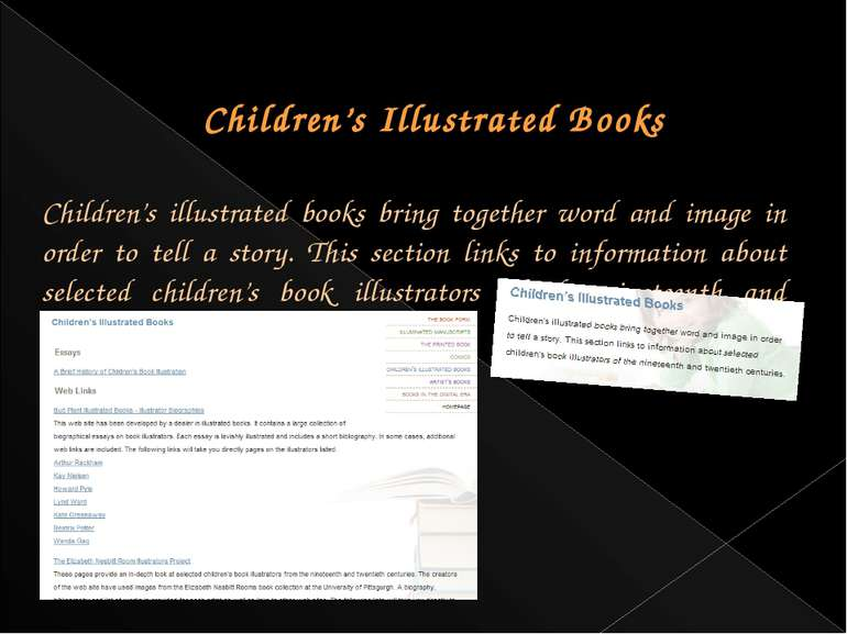 Children's Illustrated Books Children's illustrated books bring together word...
