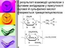 У результаті взаємодії целюлози з оцтовим ангідридом у присутності оцтової й ...