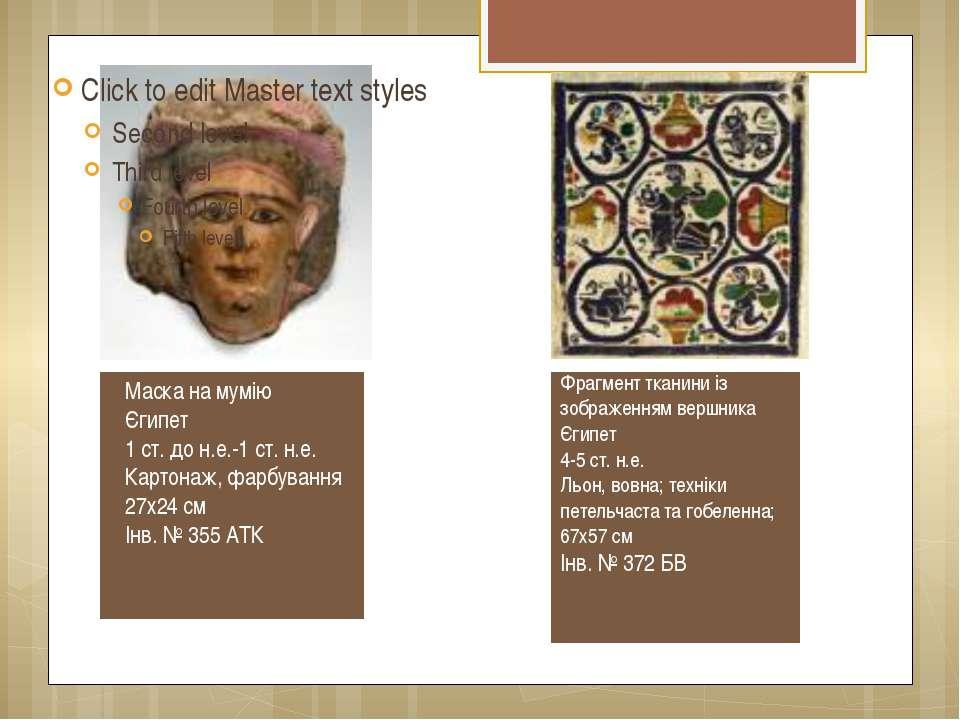 Маска на мумію Єгипет 1 ст. до н.е.-1 ст. н.е. Картонаж, фарбування 27х24 см ...
