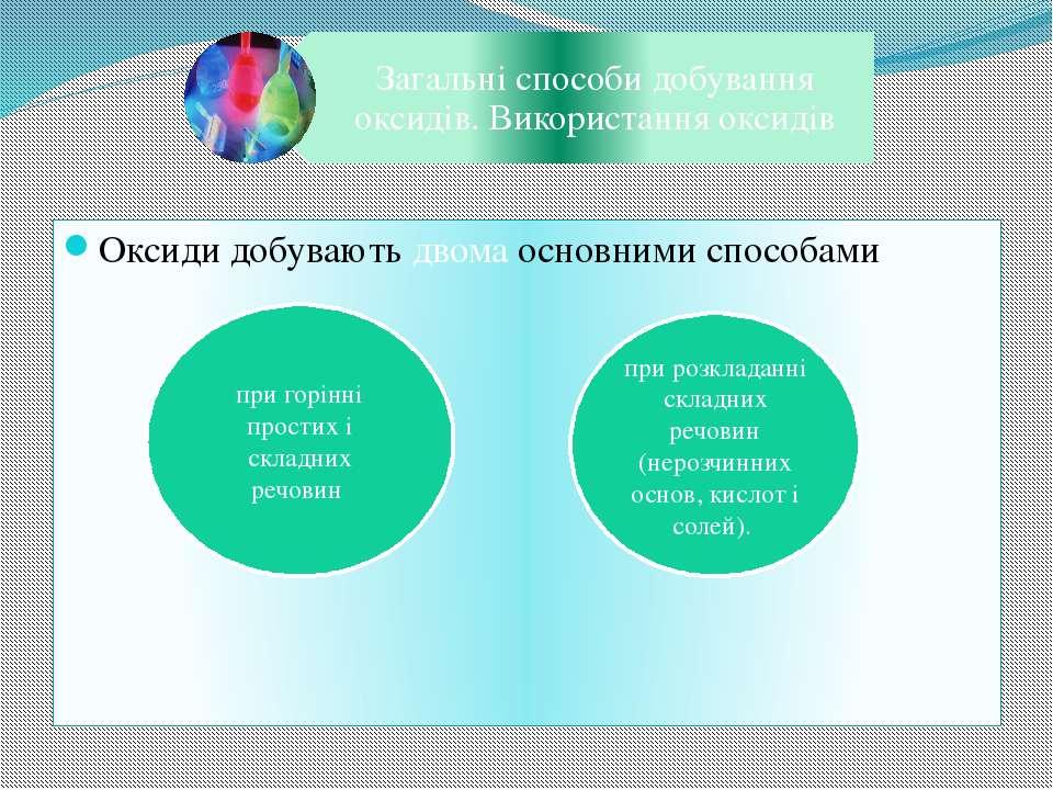 Оксиди добувають двома основними способами при горінні простих і складних реч...