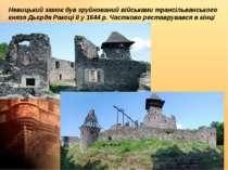 Невицький замок був зруйнований військами трансільванського князя Дьєрдя Рако...