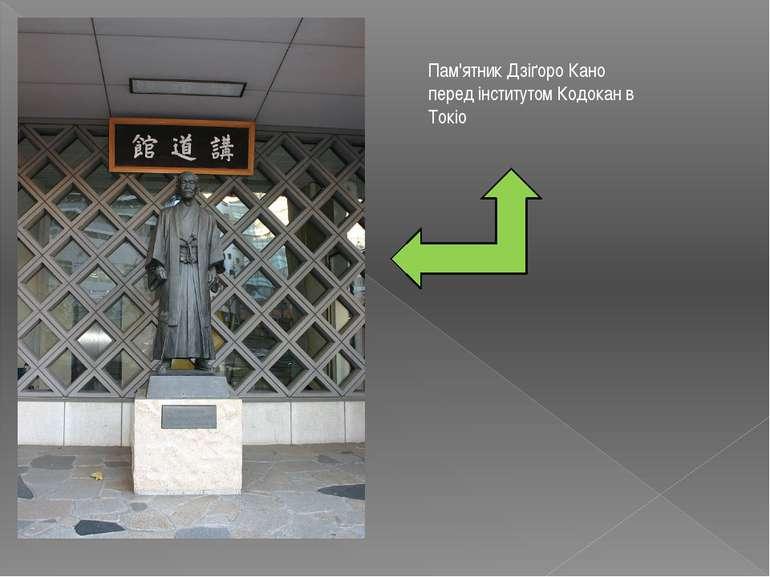 Пам'ятник Дзіґоро Кано перед інститутом Кодокан в Токіо