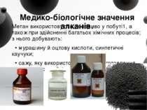 Медико-біологічне значення алканів. Метан використовують як паливо у побуті1,...
