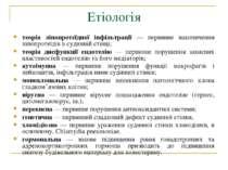 Етіологія теорія ліпопротеїдної інфільтрації — первинне накопичення ліпопроте...