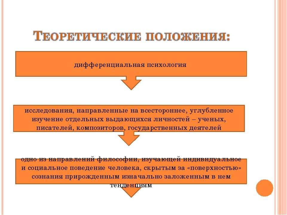 дифференциальная психология исследования, направленные на всестороннее, углуб...