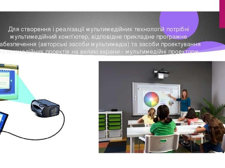 Для створення і реалізації мультимедійних технологій потрібні мультимедійний ...