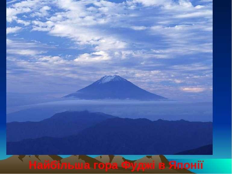 Найбільша гора Фуджі в Японії