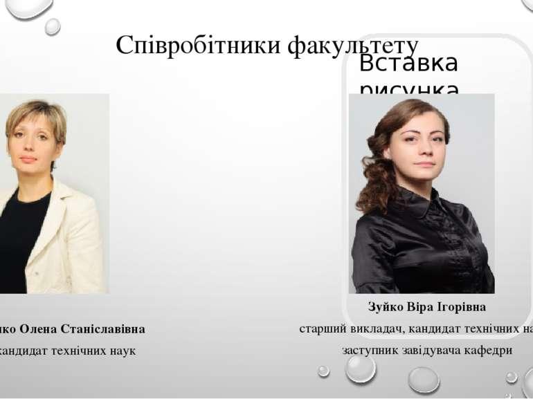 Співробітники факультету Павлюченко Олена Станіславівна доцент, кандидат техн...