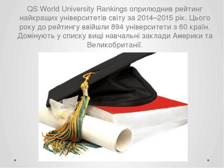 QS World University Rankings оприлюднив рейтинг найкращих університетів світу...