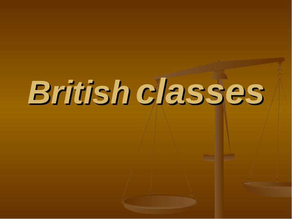 British classes
