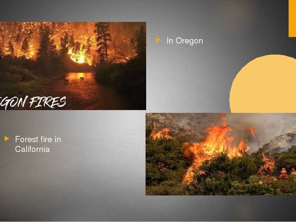 Forest fire in California In Oregon