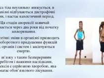 Маса тіла неухильно знижується, в організмі відбуваються дистрофічні зміни, і...