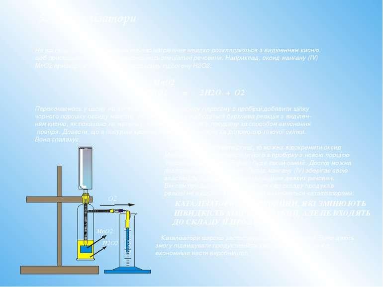 5. Каталізатори Не всі оксигеновмісні речовини під час нагрівання швидко розк...