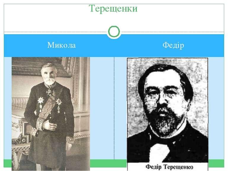 Терещенки Микола Федір