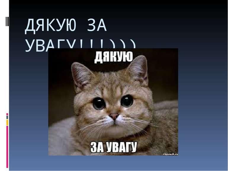 ДЯКУЮ ЗА УВАГУ!!!)))
