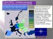 4 квітня 1949 р. – створення Організації Північноатлантичного договору (НАТО)...