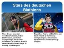 Stars des deutschen Biathlons Ricco Gross - einer der meistbeachteten deutsch...