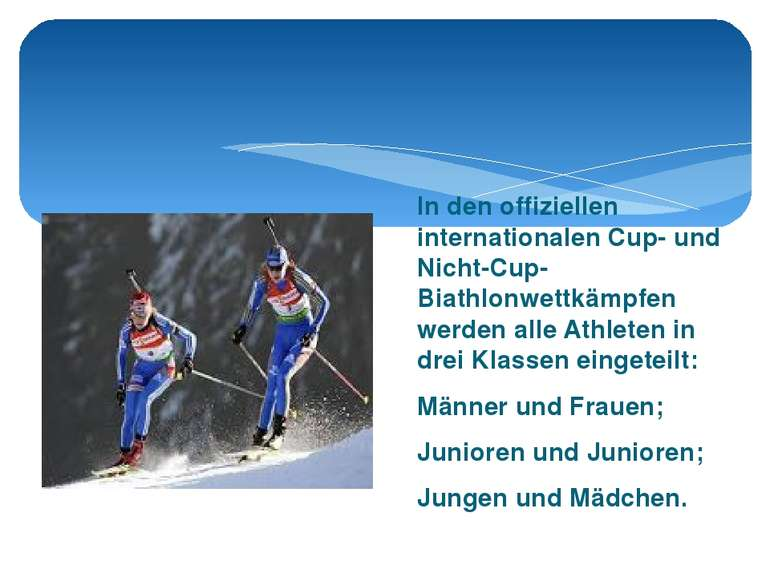 In den offiziellen internationalen Cup- und Nicht-Cup-Biathlonwettkämpfen wer...