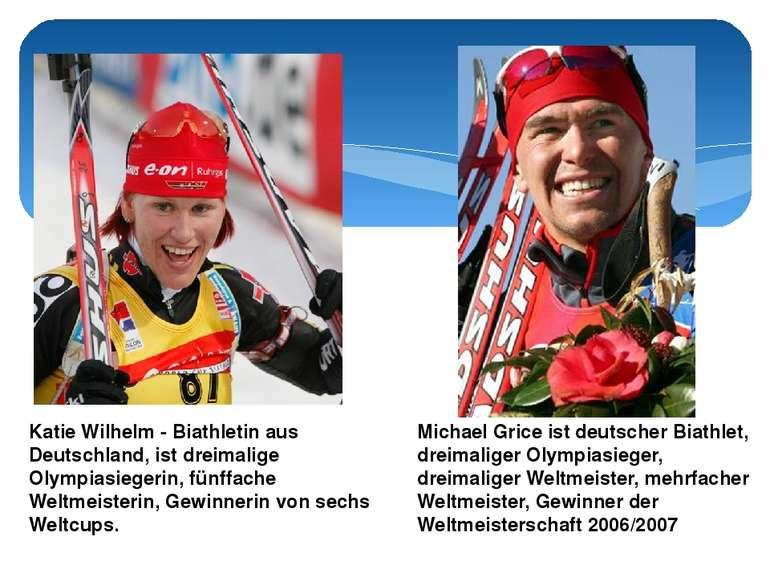 Katie Wilhelm - Biathletin aus Deutschland, ist dreimalige Olympiasiegerin, f...