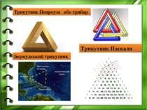 Трикутник Пенроуза або трибар Трикутник Паскаля Бермудський трикутник