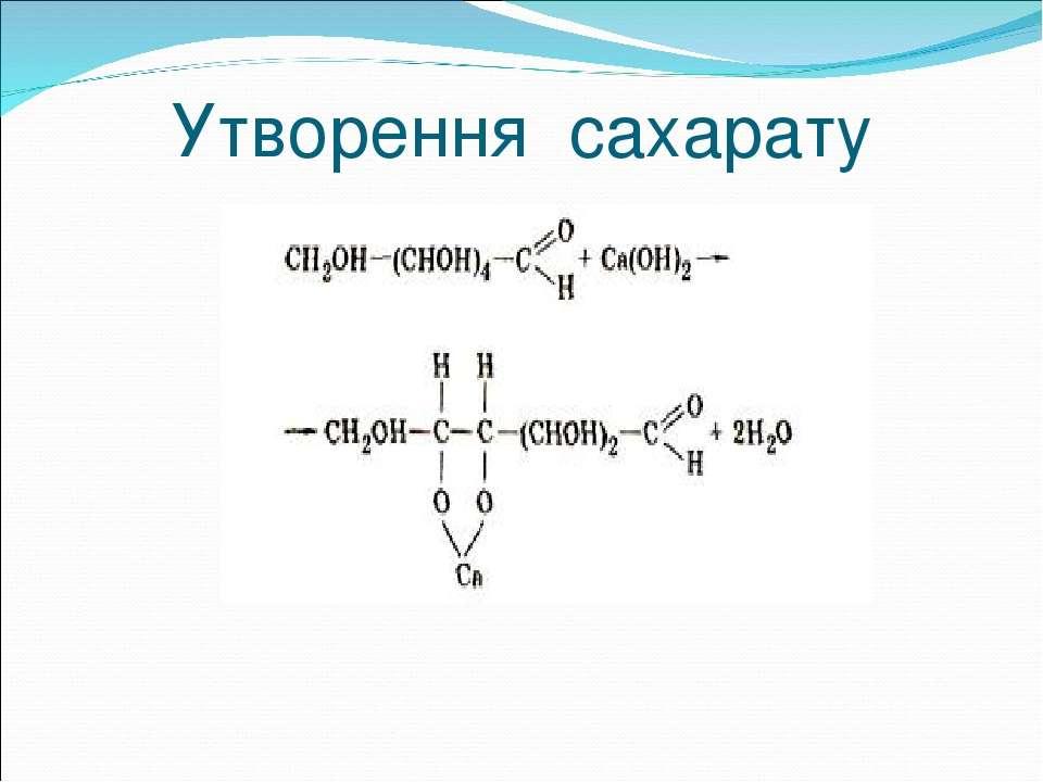 Утворення сахарату