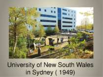 University of New South Wales in Sydney ( 1949)