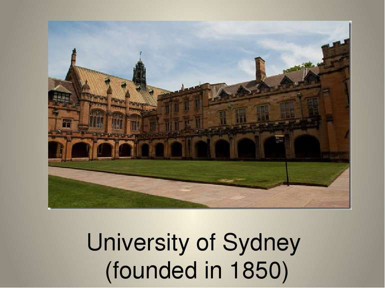 University of Sydney (founded in 1850)