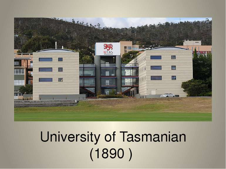 University of Tasmanian (1890 )