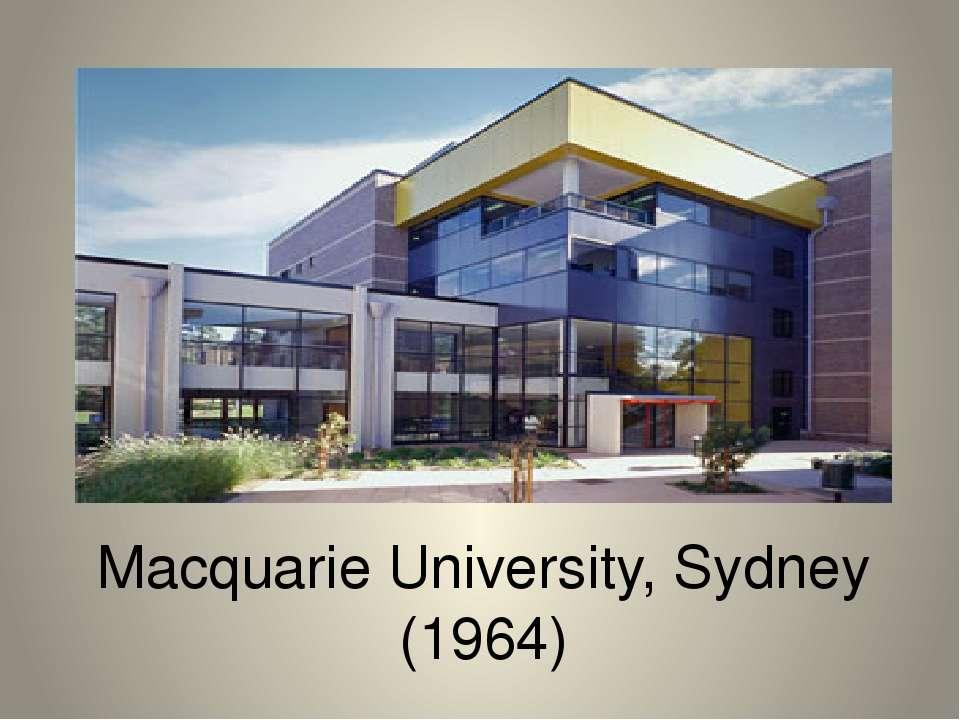 Macquarie University, Sydney (1964)
