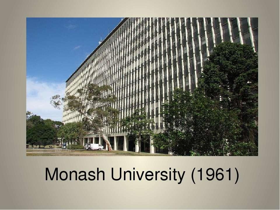 Monash University (1961)