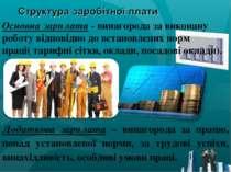 Основна зарплата - винагорода за виконану роботу відповідно до встановлених н...
