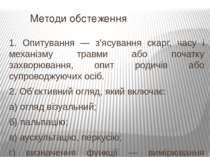 Методи обстеження 1. Опитування — з'ясування скарг, часу і механізму травми а...