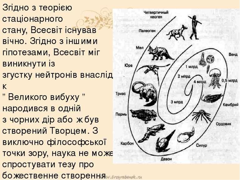 Згідно з теорією стаціонарного стану,Всесвітіснував вічно. Згідно з іншими ...