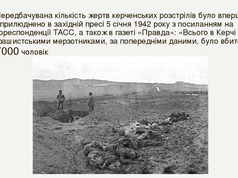 Передбачувана кількість жертв керченських розстрілів було вперше оприлюднено ...